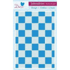 "Die'sire - Embossing Folder - Patchwork Quilt 8.4"" x 11.7"""