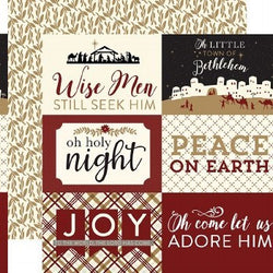 Echo Park - Wise Men Still Seek Him - 4x6 Journaling Cards