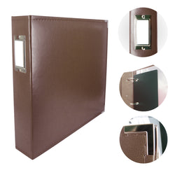 Couture Creations - 3 Ring Album Classic Leather - Dark Brown