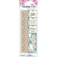 Penelope Dee - Live Love Dream Collection Chipboard - Fabulous Lace (12,5cm)