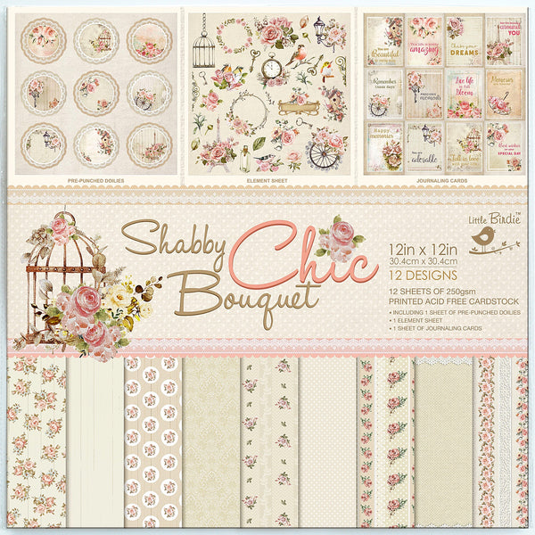 Little Birdie - Shabby Chic Collection Kit (single sided)