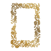 Couture Creations - Hotfoil Stamp - Framed Holly (90 x 136mm)
