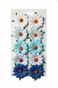 Bloom - Flowers - Chrysanthemums - Blue and Aqua (10pc)