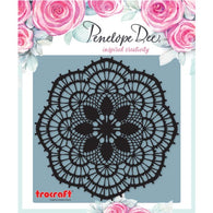 Penelope Dee - Live Love Dream Collection Chipboard - Doily (Black 12,5cm)