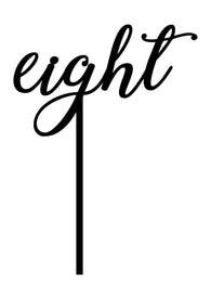 Cake Topper - Word Number - eight