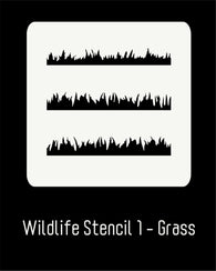 "6""x6"" Wildlife Stencil 1 - Grass"