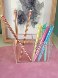 Stationery Holder Acrylic - Plain