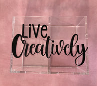 Stationery Holder Acrylic - Live creatively