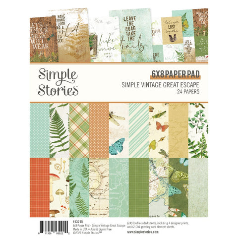 Simple Stories - SV Great Escape Collection - 6x8 Paper Pad