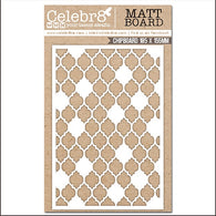 Celebr8 - Serenity Bliss Collection Chipboard - Mesh Pattern