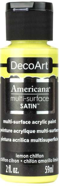 DecoArt - Americana Multi-surface Acrylic - Lemon Chiffon 59ml