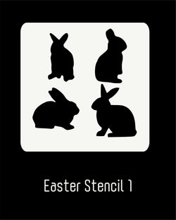 Easter Stencil 1 - Bunnies Assorted