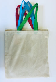 Colour Handle Canvas Bag - Green