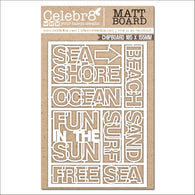 Celebr8 - Ocean Bliss Collection Chipboard - Mini Words