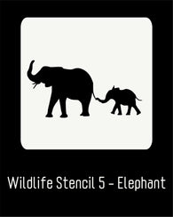 "6""x6"" Wildlife Stencil 5 - Elephant"