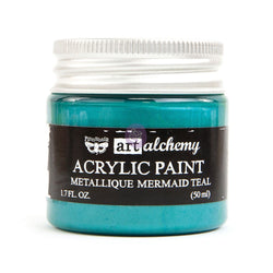 Prima - Metalique Acrylic Paint - Mermaid Teal 50ml