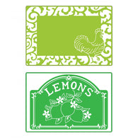 Sizzix - Embossing Folder - Rooster Frame & Lemon Label