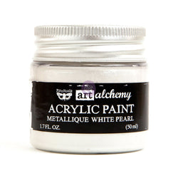 Prima - Metalique Acrylic Paint - White Pearl 50ml