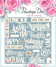 Penelope Dee - Alyssia Collection Chipboard - English Sentiments