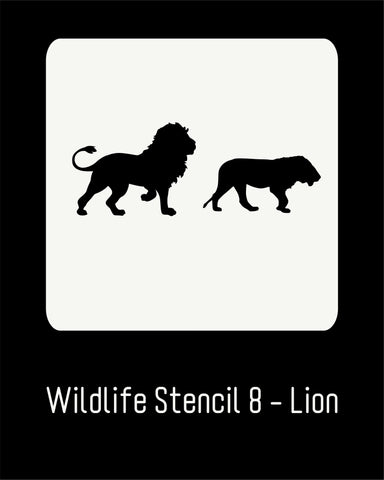 "6""x6"" Wildlife Stencil 8 - Lion"