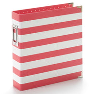 Simple Stories - 6x8 Sn@p Designer Binder - Red Stripe