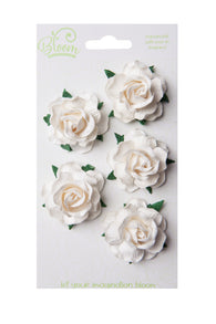 Bloom - Flowers - Wild Roses - Ivory (5pc)