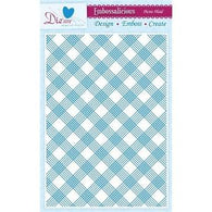 "Die'sire - Embossing Folder - Picnic Plaid 8.4"" x 11.7"""