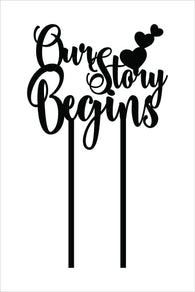 Cake Topper - Our Story Begins