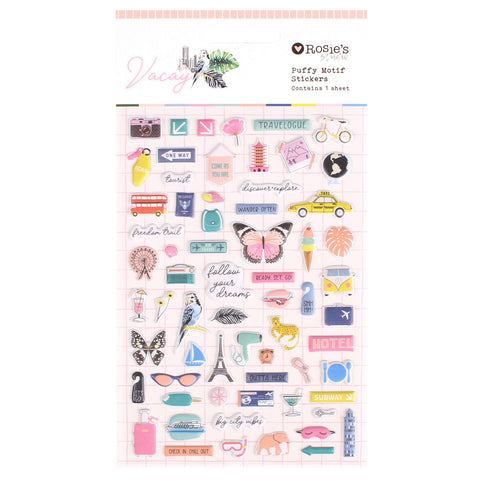Rosie's Studio - Vacay Collection - Puffy Stickers