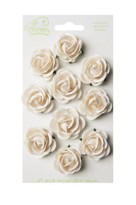 Bloom - Flowers Chelsea Roses - Ivory (10pc)
