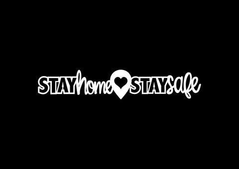 Chipboard - Stay Home Stay Safe (20cmx3,5cm)