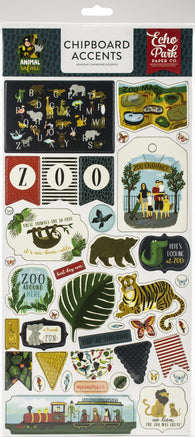 Echo Park - Animal Safari Collection - 6x12 Chipboard Stickers I