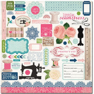 Carta Bella - Sew Lovely Collection - Element Stickers
