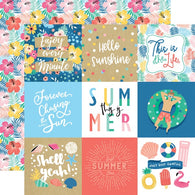 Echo Park - Dive Into Summer Collection - 4x4 Journaling Cards