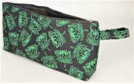 Pencil Bag - Protea - Grey With Green 29cm x 13cm