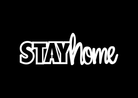 Chipboard - Stay Home 1 (15cmx5cm)