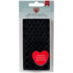 American Crafts - Black Adhesive Foam Dots