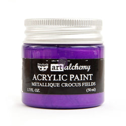Prima - Metalique Acrylic Paint - Crocus Fields 50ml