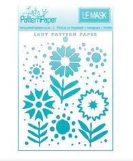 Lady Pattern Paper - Sweet Summer Collection Stencil - Blooms