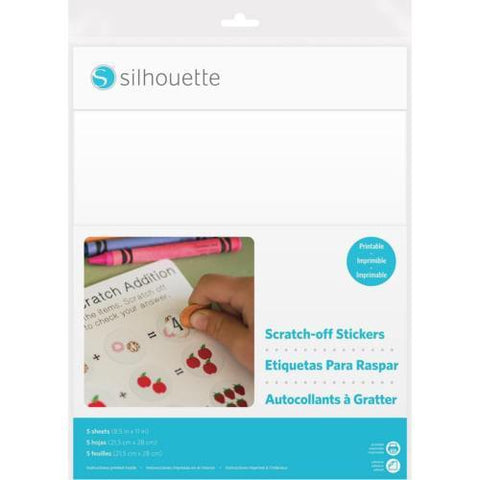 Silhouette America - Printable Scratch-Off Stickers