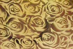 Heat Transfer Vinyl - Smooth - Gold Roses 1mx25cm
