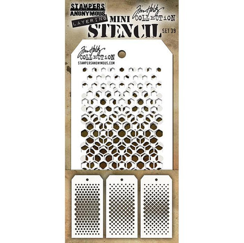 Tim Holtz  - Layering Mini Stencil - Set 39
