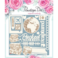 Penelope Dee - Wayfarer Collection Chipboard - Packed Memories (12,5cm)