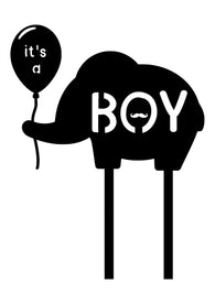 Cake Topper - It's a Boy Elephant
