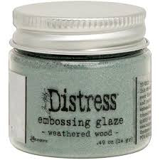 Ranger - Distress Embossing Glaze - Weathered Wood 14g