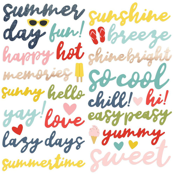 Simple Stories - Foam Stickers  - Summer Farmhouse (39pc)