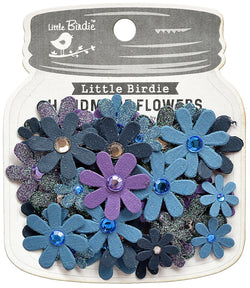 Little Birdie - Purple Passion Flowers - Sparkle Florettes