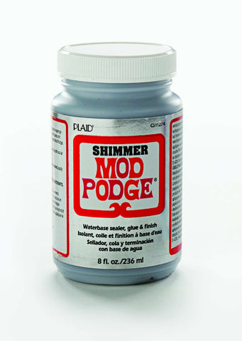 Plaid - Mod Podge - Silver Shimmer Sealer 236ml
