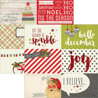 Simple Stories - Claus & Co Collection - 4x6 Horizontal Journaling Card Elements