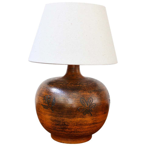 Mid-Century French Ceramic Table Lamp by Jacques Blin (circa 1950s)